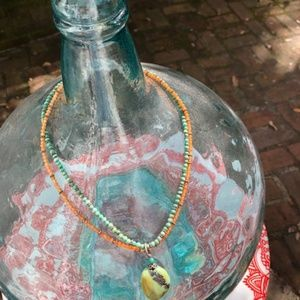 Jewelry - Double Strand Turquoise/.925 Silver Necklace